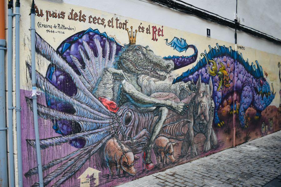 I Murales nel Barrio Del Carmen   Cosa vedere a Valencia