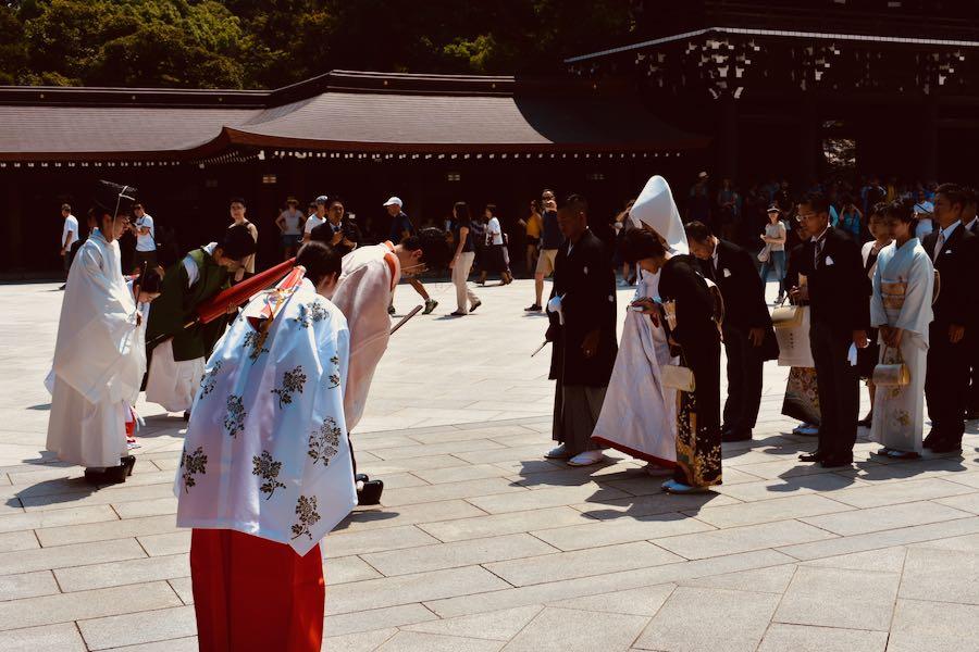Cosa vedere a Tokyo Giappone: Matrimonio al Meiji-jingu Shrine