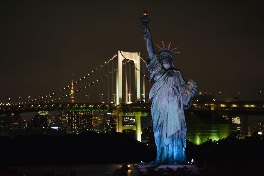 Cosa vedere a Tokyo: Statua Della Libertà & Rainbow Bridge [Odaiba]