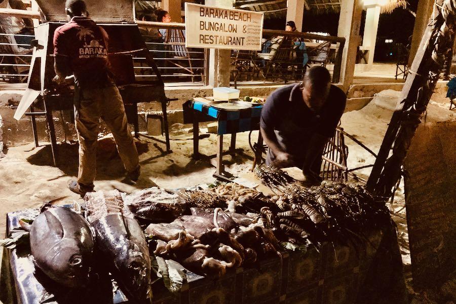 Dove e cosa mangiare a Zanzibar: Baraka Beach Restaurant Nungwi
