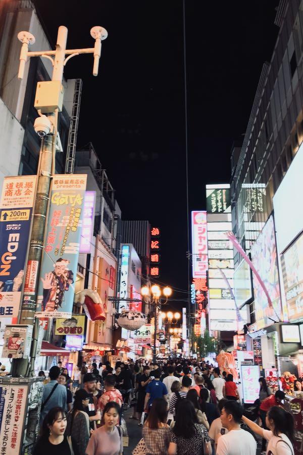 Cosa vedere a Osaka Giappone: Dōtonbori By Night