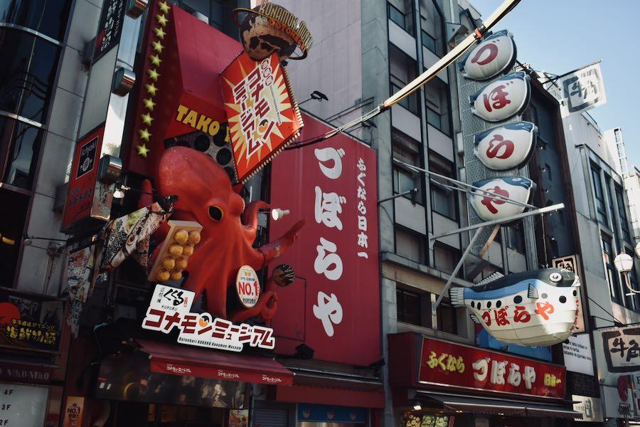 Cosa vedere a Osaka Giappone: Le insegne dello Street-Food [Dōtonbori]