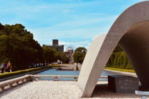 Cosa fare e vedere a Miyajima e Hiroshima: Cenotafio Del Memoriale Per Le Vittime
