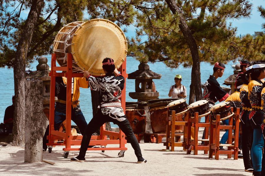 Isola di Miyajima: Tamburi Tradizionali