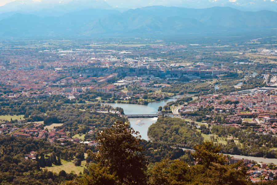 Posti panoramici Torino e dintorni | Panorama di Torino visto dalla cupola della Basilica di Superga