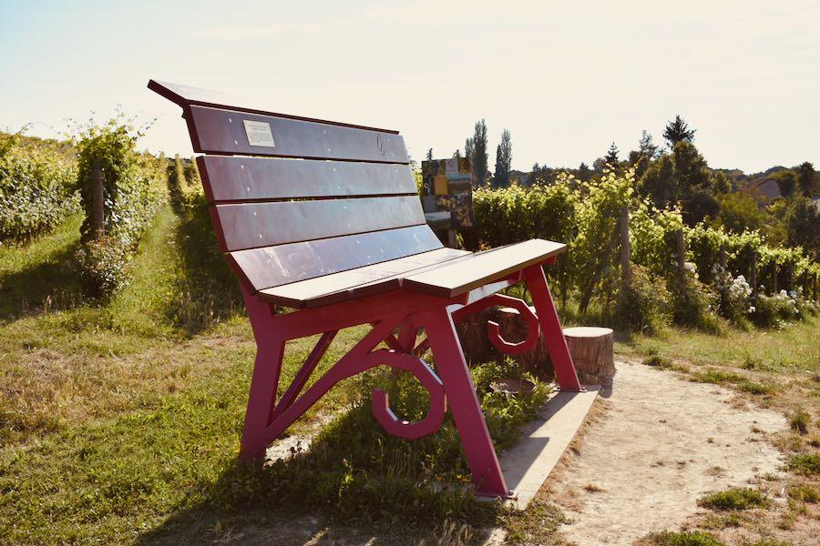 Langhe e Monferrato: Panchina Gigante #17 [Rossa Passum - Costigliole D'Asti - Loc. Castelletto]