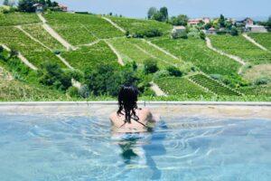 Piscina con vista - Albergo Castiglione Langhe | Hotel con piscina nelle Langhe